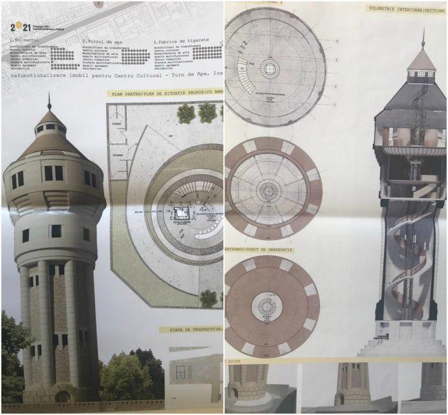 Municipalitatea a  finalizat concursul de soluții pentru reabilitarea Turnului de Apă
