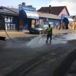 Continuă spălarea străzilor la Timişoara. Programul intervențiilor