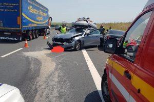Încă un accident pe autostradă!