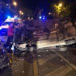 Mașină răsturnată într-un accident pe Calea Șagului