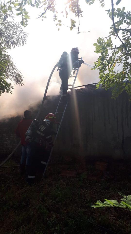Incendiu la o saună din zona Cetăţii