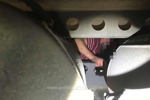 Sirian ascuns sub remorca unui automarfar, descoperit la Vama Nădlac
