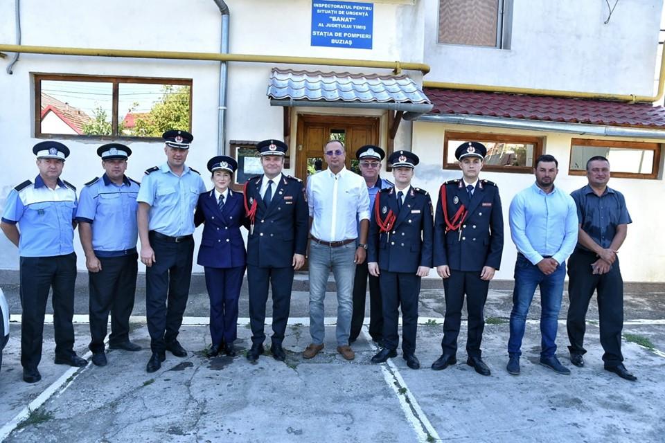 Predarea-primirea comenzii Stației de Pompieri Buziaș