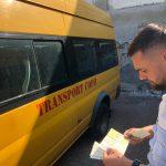 Microbuzele de transport elevi din Arad, verificate de polițiști