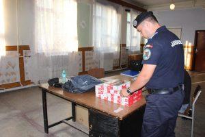 Țigări de contrabandă depistate de jandarmi