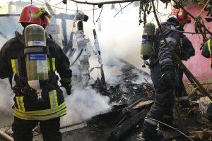 Casă în flăcări la Timișoara