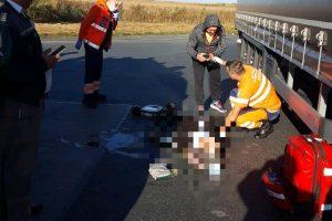 Accident grav în Vama Nădlac, a fost chemat elicopterul SMURD