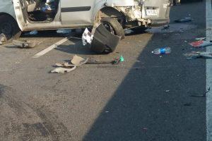 Şoseaua dintre Timișoara și Șag, blocată în urma unui accident