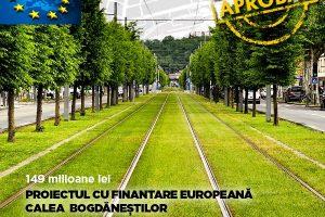 """Calea Bogdăneştilor se schimbă total cu bani europeni """"la pachet"""" cu încă 7 tramvaie noi"""