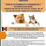 Sterilizări gratuite pentru câini și pisici cu stăpân în Sânnicolau Mare