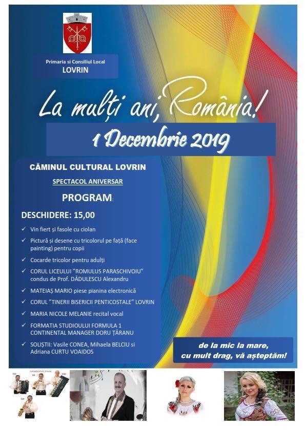 La Lovrin se încinge o mare petrecere de 1 Decembrie