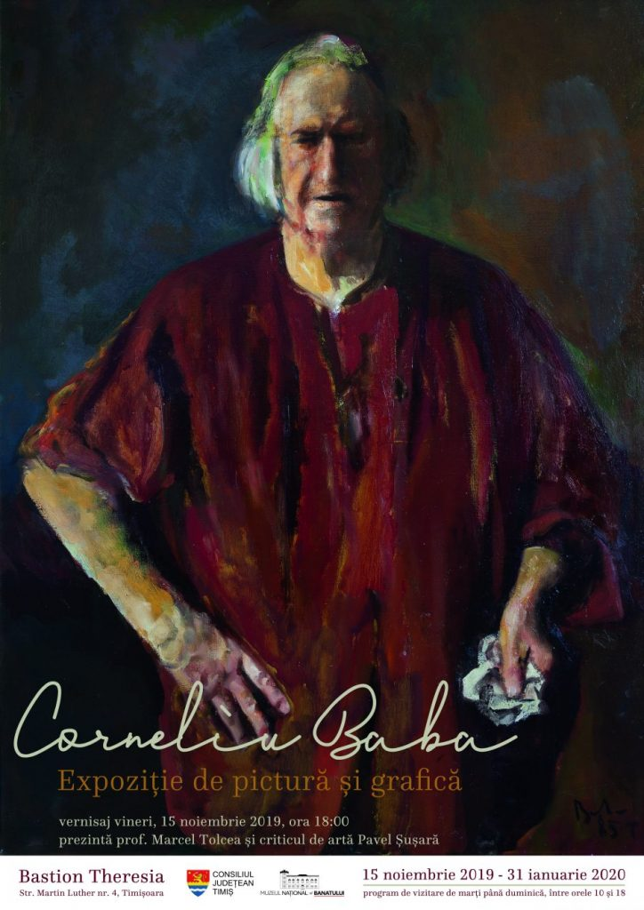 Expoziție de pictură și grafică semnată Corneliu Baba la Muzeul Banatului