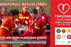 Maratonul Resuscitării – Ediția I – Timișoara: Peste 50 de medici, paramedici și voluntari, 9 ore neîntrerupte de resuscitare