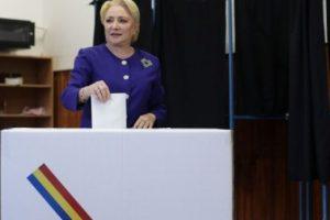 """Viorica Dăncilă, la vot: """"Am votat împotriva tăierilor de pensii și salariilor"""""""