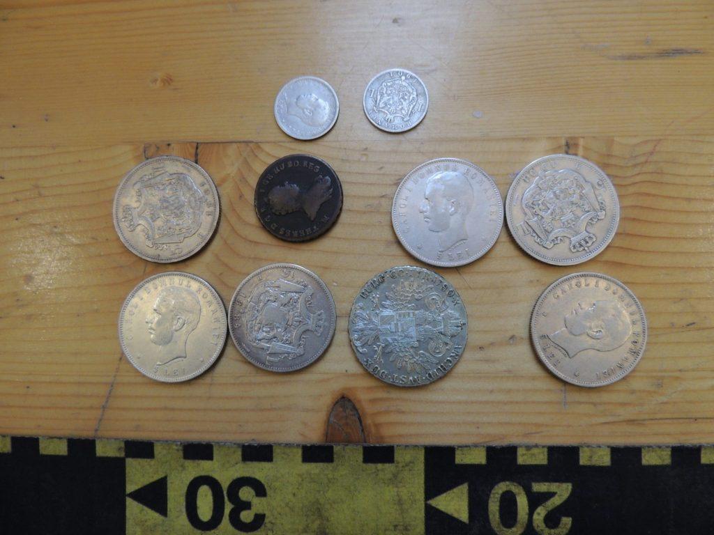 Monede și obiecte istorice de patrimoniu, confiscate în P.T.F. Porţile de Fier I