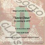 """Târgul Caritabil """"Socio Claus"""" va avea loc la UVT"""
