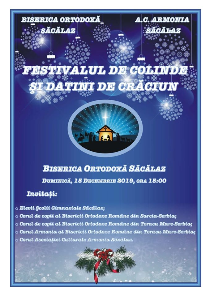 Festival de datini şi colinde la Săcălaz