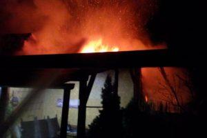 Incendiu la Lugoj. Pompierii au salvat două case