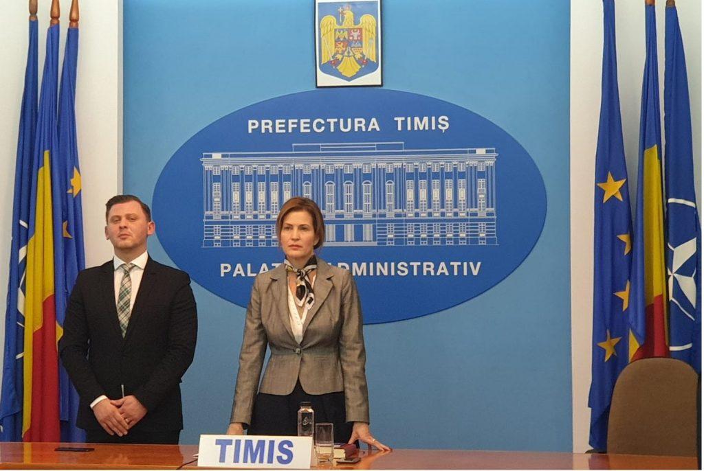 Liliana Oneț a revenit în funcția de subprefect al județului Timiș