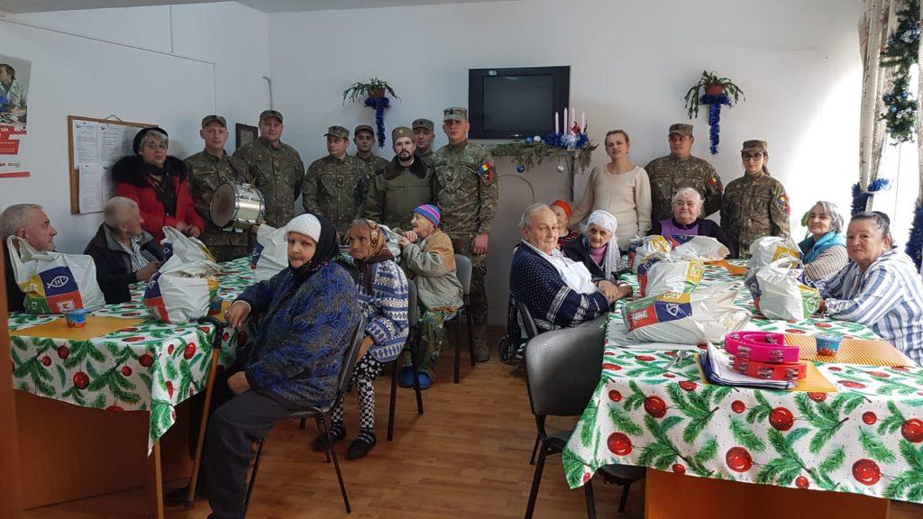 Gest umanitar al militarilor lugojeni