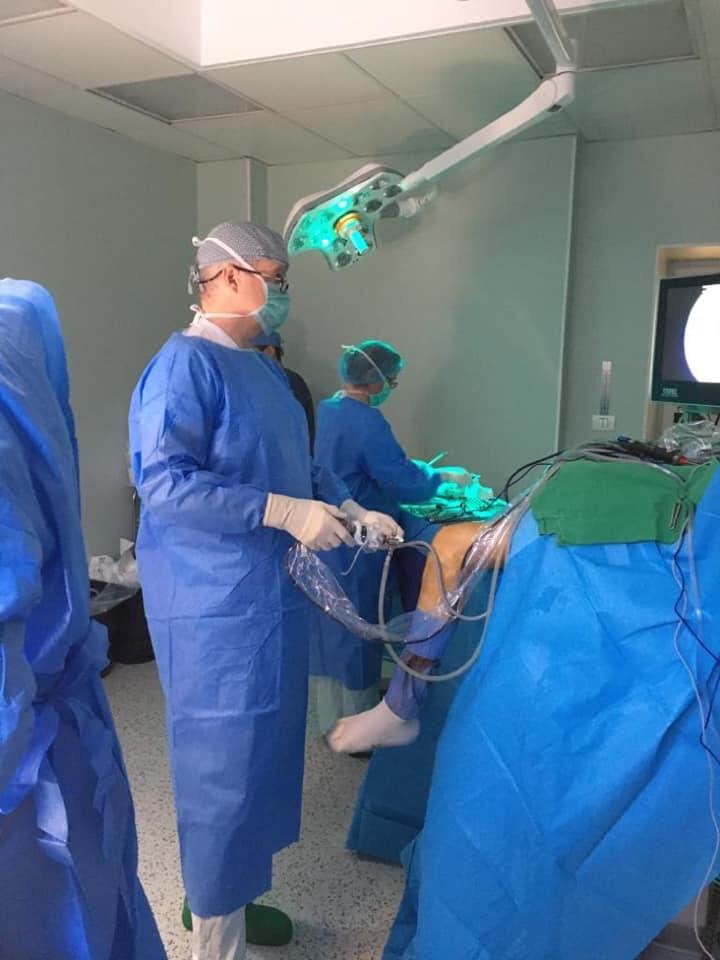 Transplant ligamentar cu grefon de la donor decedat realizat la Spitalul Militar