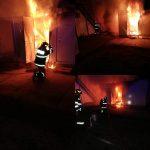 Incendiu puternic la un container de tip bucătărie