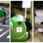 Sancțiuni de 3000 și 6000 lei aplicate celor depistați cu ajutorul camerelor video abandonând deșeuri