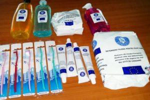 Persoanele defavorizate primesc produse de igienă