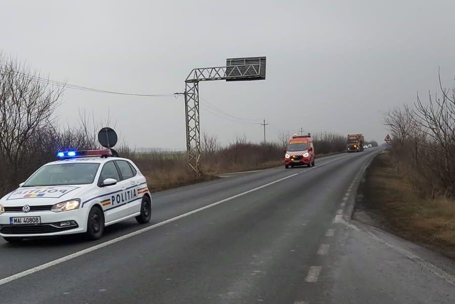 Atenţie, şoferi! Transport agabaritic pe ruta Vama Nădlac –  Cristian (județul Brașov)