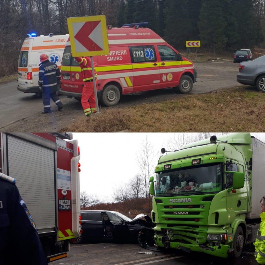 Accident rutier în Coşeviţa! A intervenit elicopterul SMURD