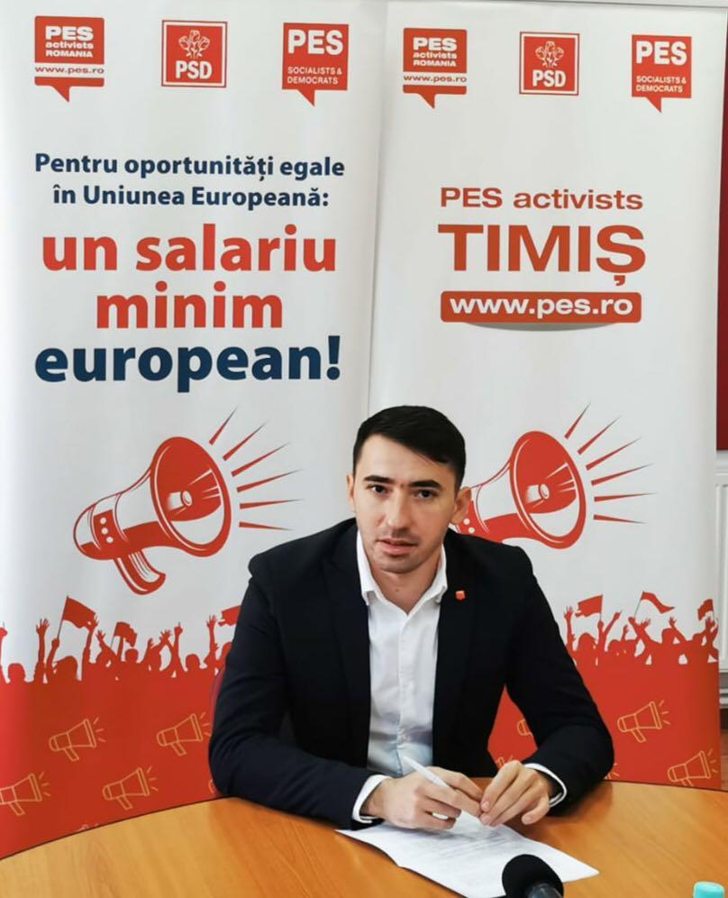 Un consilier județean PSD propune semnarea unei petiții privind stabilirea salariului minim din UE