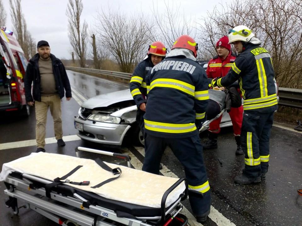Accident cu patru autovehicule la Şag