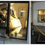 Bancomat distrus prin explozie la Arad