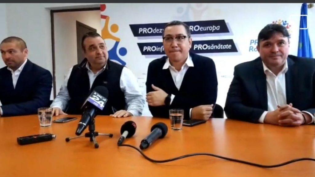 Pro România nu face alianță sau înțelegere preelectorală cu PSD