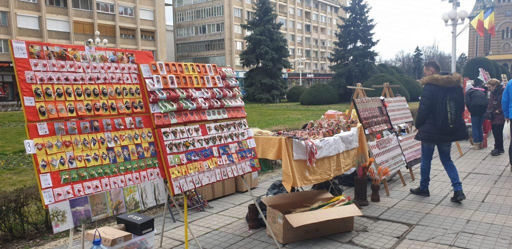 Comercializarea mărțișoarelor și altor obiecte de 1 Martie va avea loc la Timișoara în condiții speciale
