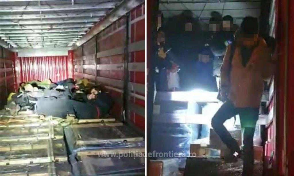 Peste 20 de migranți, înghesuiți într-un TIR, prinși la frontieră