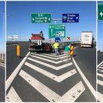 Drumarii montează atenuatori de impact pe autostrada A1