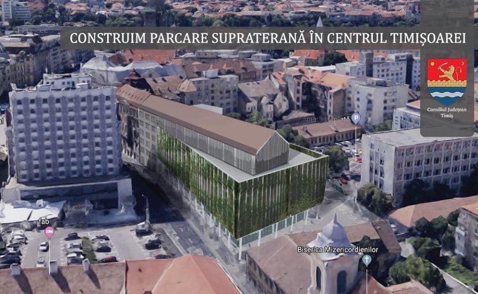 CJ Timiș ridică o parcare supraetajată