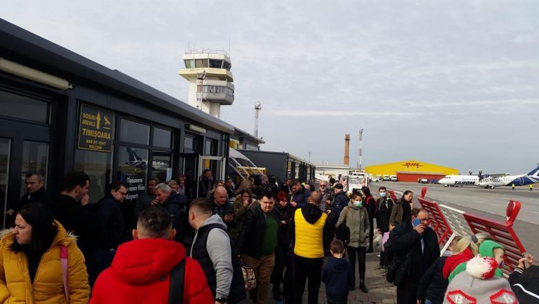 Alertă de coronavirus pe aeroportul din Timișoara. Avion care a venit din Italia, dezinfectat