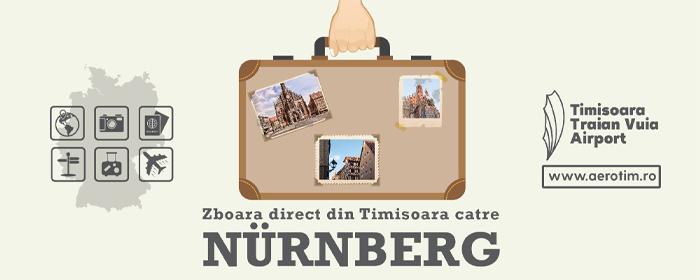 Zboară direct din Timișoara către Nürnberg, unul dintre cele mai importante orașe din Bavaria!
