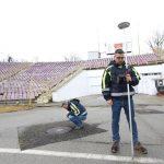 Măsurători topografice pentru noua arenă Dan Păltinișanu