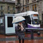 Ploaia a afectat anumite sectoare de pe traseele liniilor de tramvai