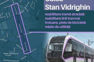 Liniile de tramvai de pe Calea Stan Vidrighin vor fi reabilitate