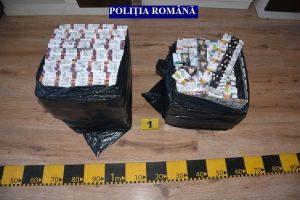 Sute de mii de ţigări de contrabandă confiscate de poliţiştii arădeni