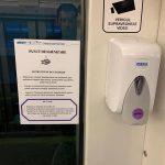 Dozatoare cu dezinfectant în toate mijloacele de transport