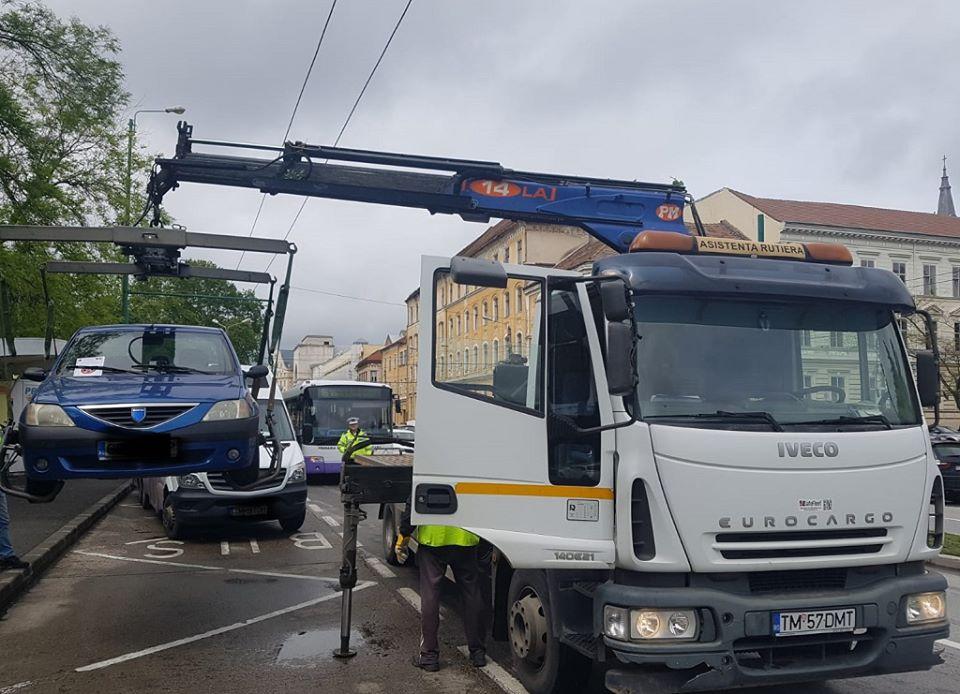 Jale pentru şoferi. 12 maşini ridicate într-o singură zi
