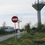 Lucrări de întreținere a turnului de apă din Recaș