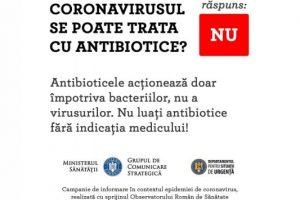 Nu luați antibiotice fără ca acest lucru să vă fie indicat de către un medic!