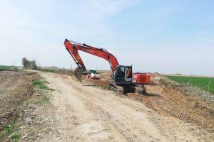 Au început lucrările la Centura de Sud în zona comunei Giroc