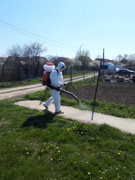 Dezinfecţie la Sânmihaiu Român după ce doi localnici au fost confirmaţi cu coronavirus